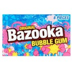 Bazooka Chewing-Gum goût original et Framboise bleue 33 Gr x 12